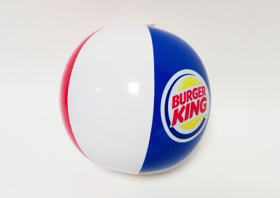 Burger King inflatable beach ball